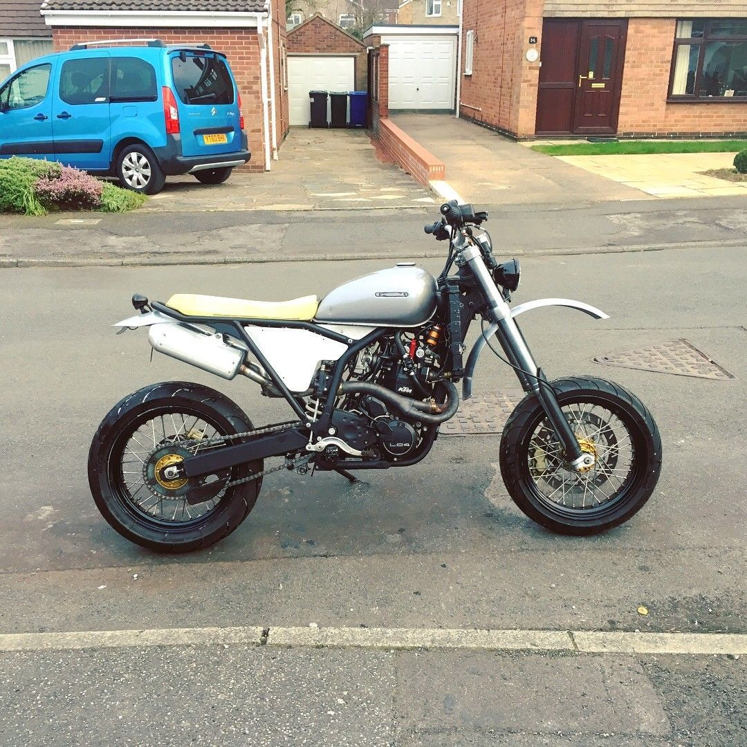 2000 KTM 640 Supermoto Retro, Custom Unfinished Project