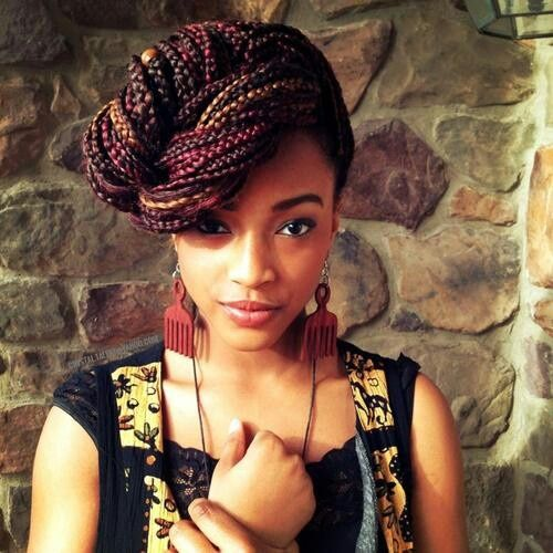 Superb 1000 Images About African Braid Styles On Pinterest Box Braids Hairstyle Inspiration Daily Dogsangcom