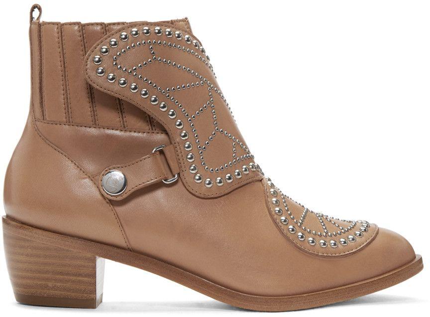3ee41119b9f SOPHIA WEBSTER. Studded LeatherShoes For WomenSophia WebsterAnkle HighsShoe  BootsLeather ...