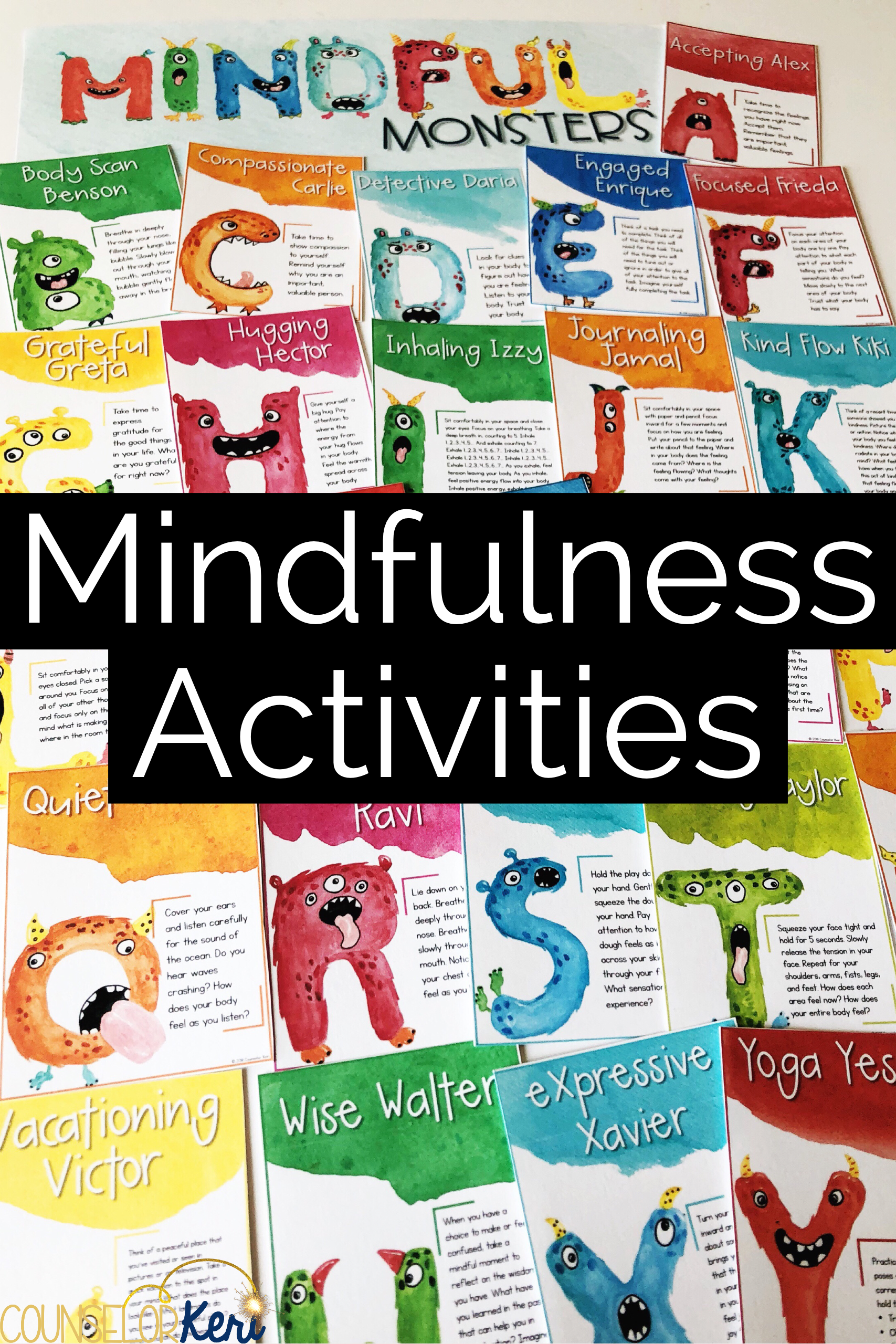 Mindful Monsters Mindfulness Activities For Kids With 26 Mindfulness Scripts For Classroom