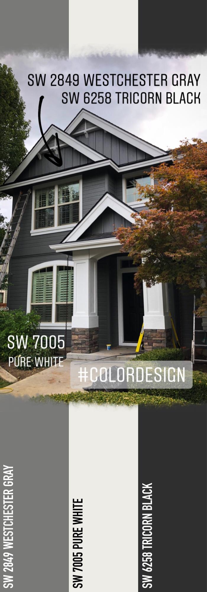 Modern Gray Color Scheme Exterior Exterior House Paint Color Combinations Exterior Paint Colors For House Gray House Exterior