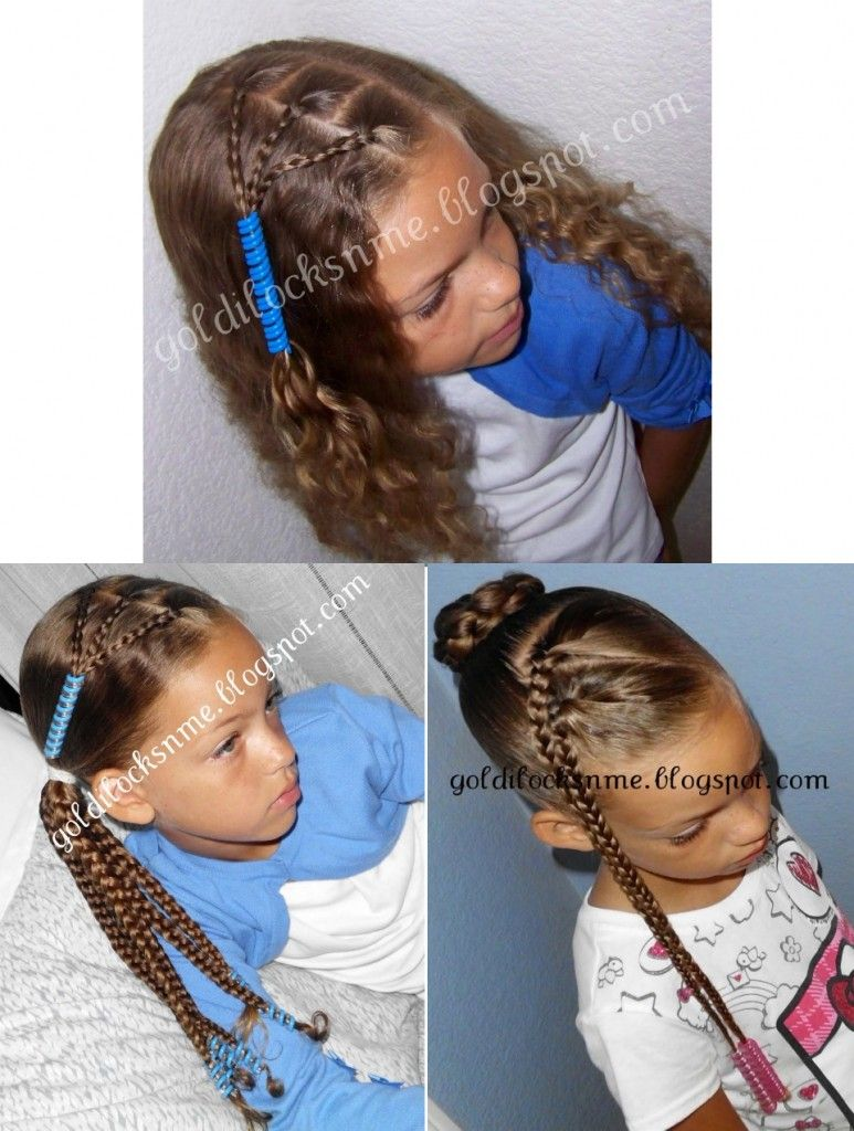 bead barrette alternative. Cute girls hairstyles for school using ...