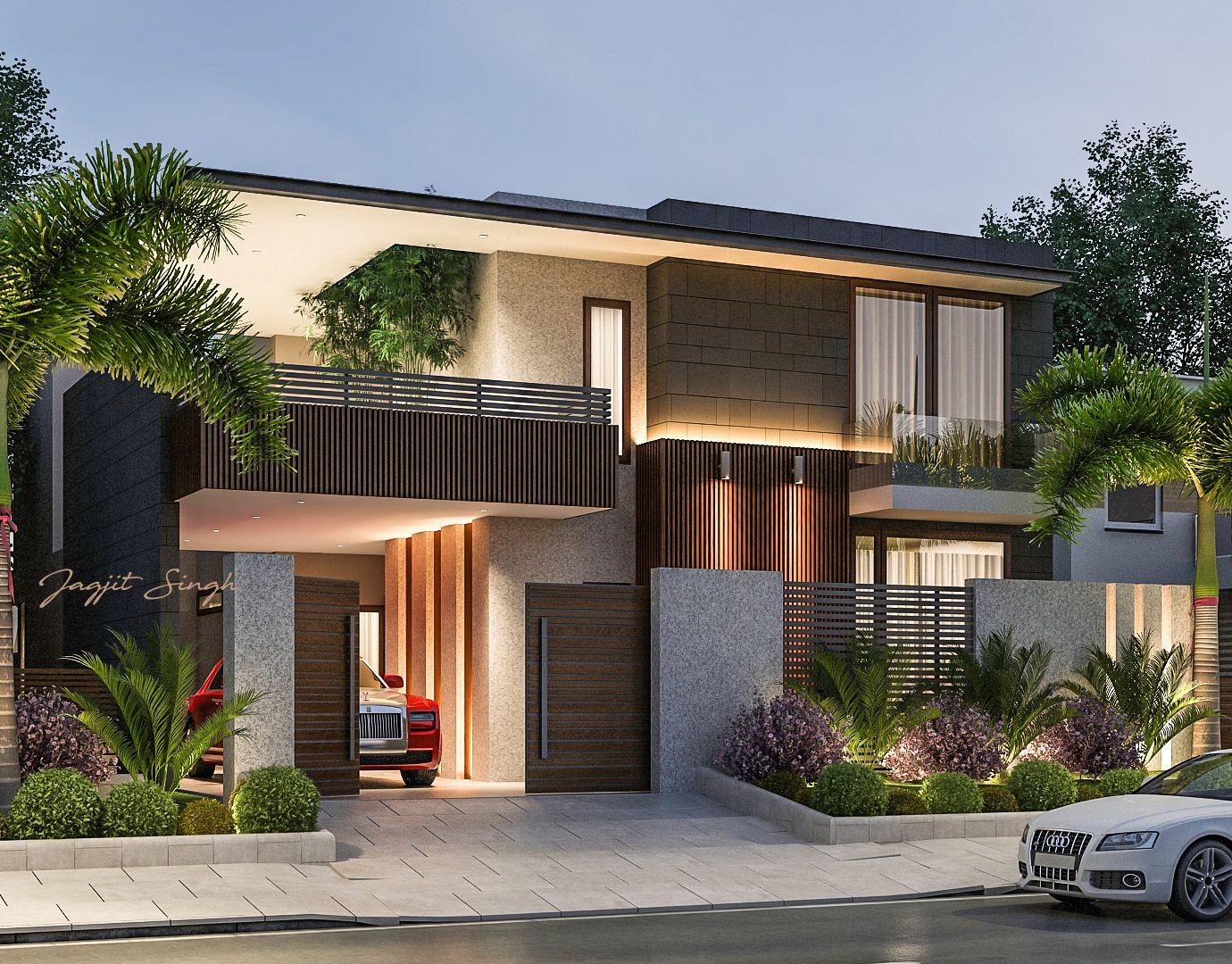 House Designed For Client In Ludhiana Modern House Facades