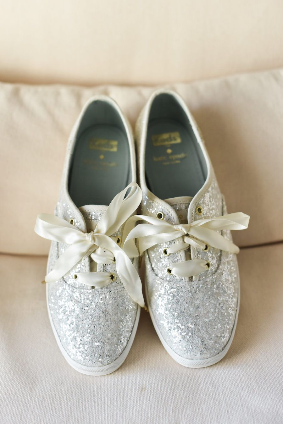 Silver Glitter Kate Spade for Keds Bridal Wedding Day Shoes 63632f9ee
