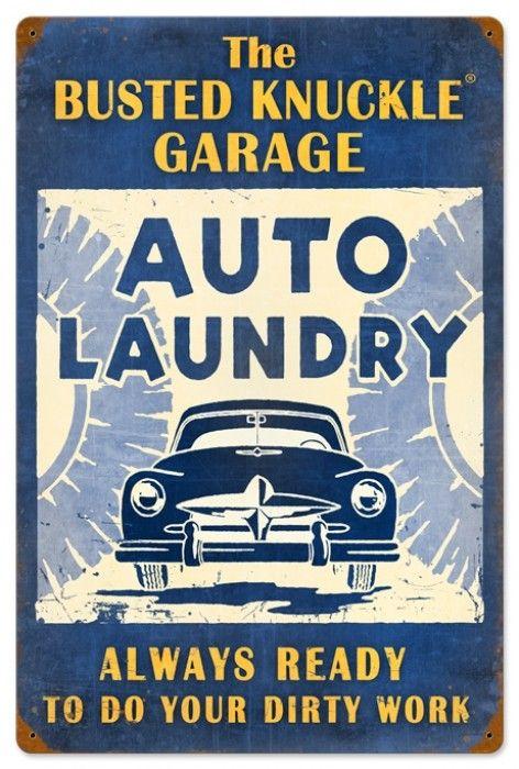 $58.97 Retro Auto Laundry Tin Sign