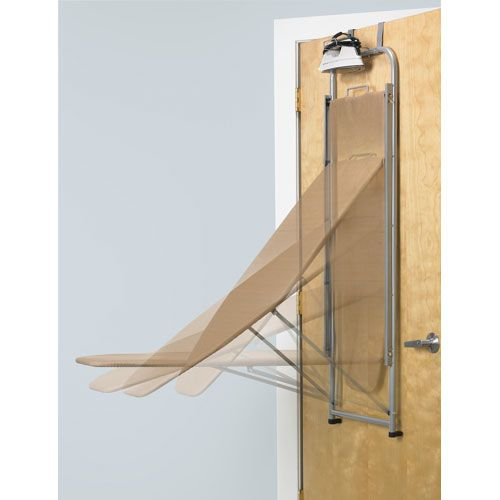 Over The Door Ironing Board And Iron Holder Image Boas Ideias Casas Tabua De Passar