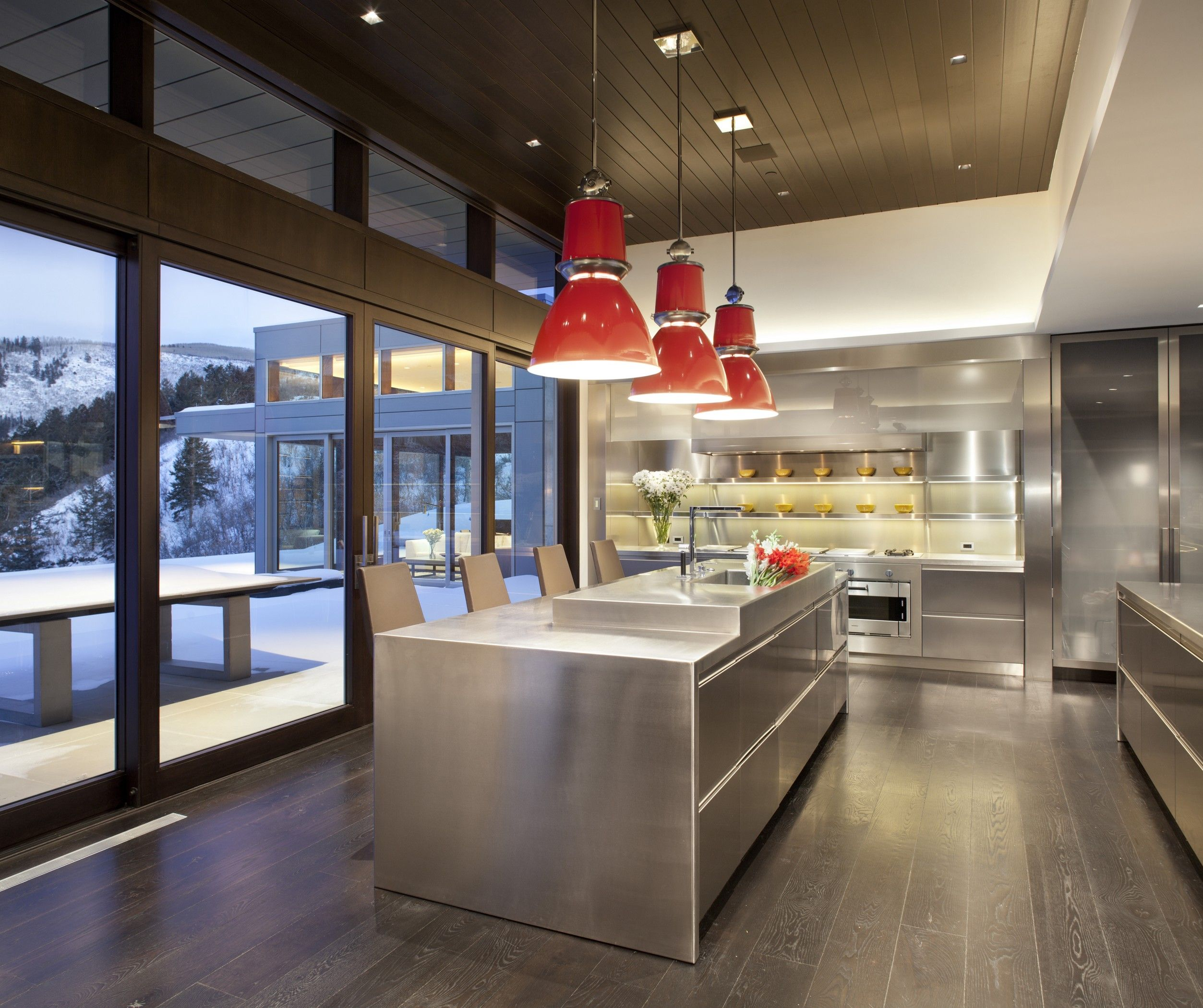 Private residence r34 by grabill windows and doors kitchen lighting design design kitchen