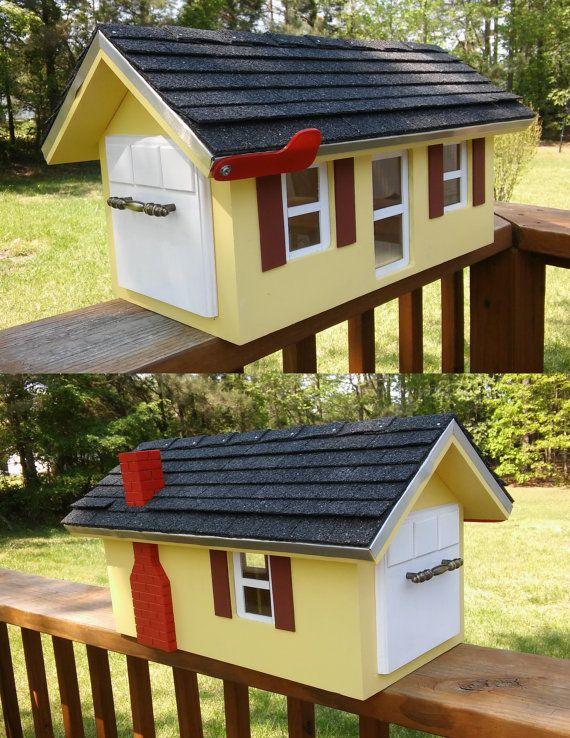 Custom Holz Briefkasten Landhaus Jede Farbe Von Totalclear Wooden Mailbox Cool Mailboxes Unique Mailboxes