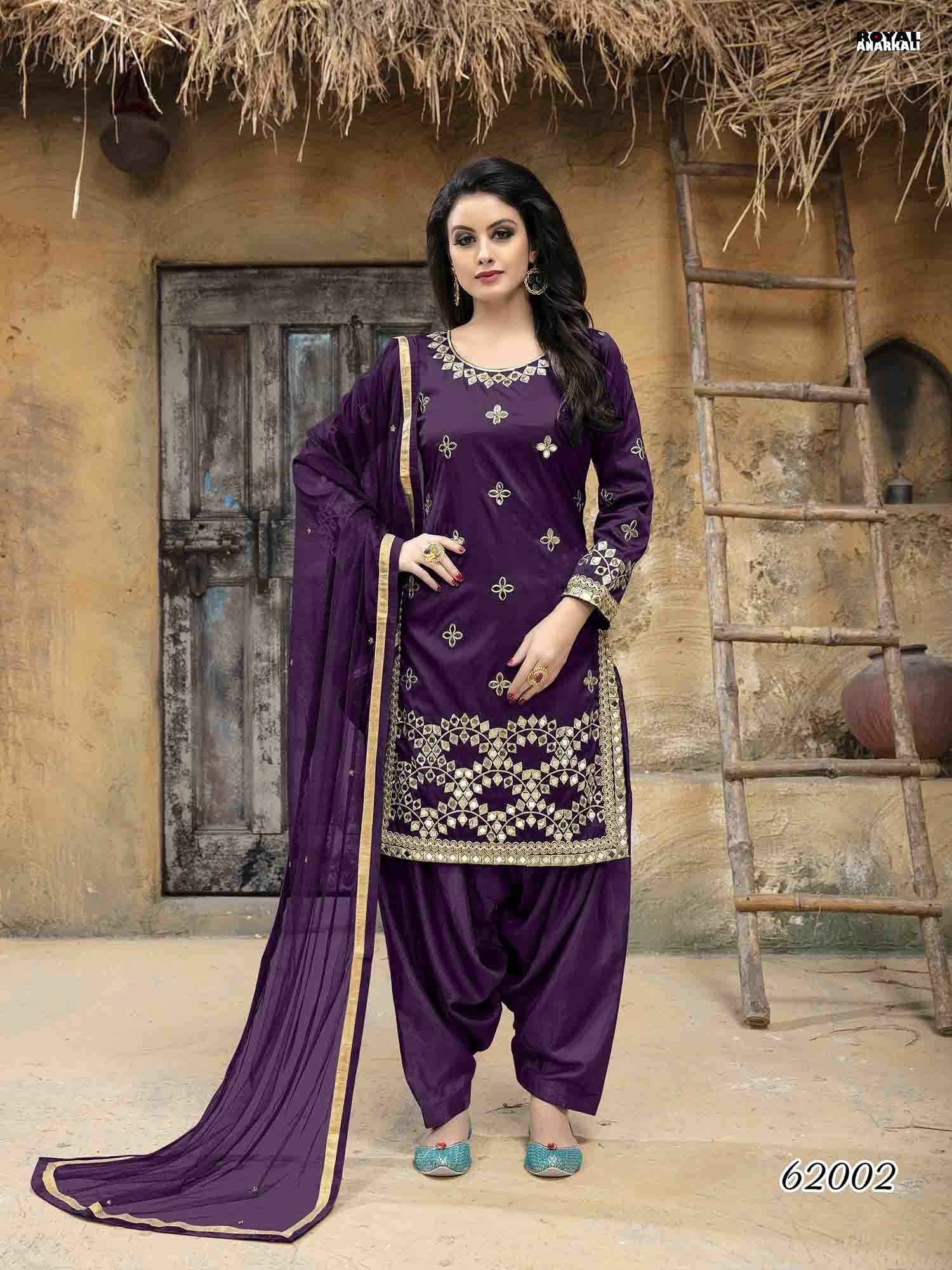 97592b5d2f Glamorous Purple Color Taffeta Silk Salwar Suit With Mirror Work in ...