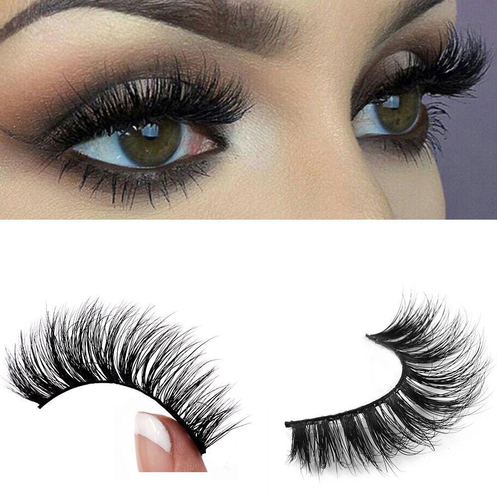 d8af81acf6d Long Mink Lash Single Double Triple Magnetic 3D Natural Fake Eyelashes  Handmade #HTTB