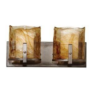 Bathroom Vanities Nebraska Furniture Mart aris 2 light vanity strip in roman bronze | nebraska furniture