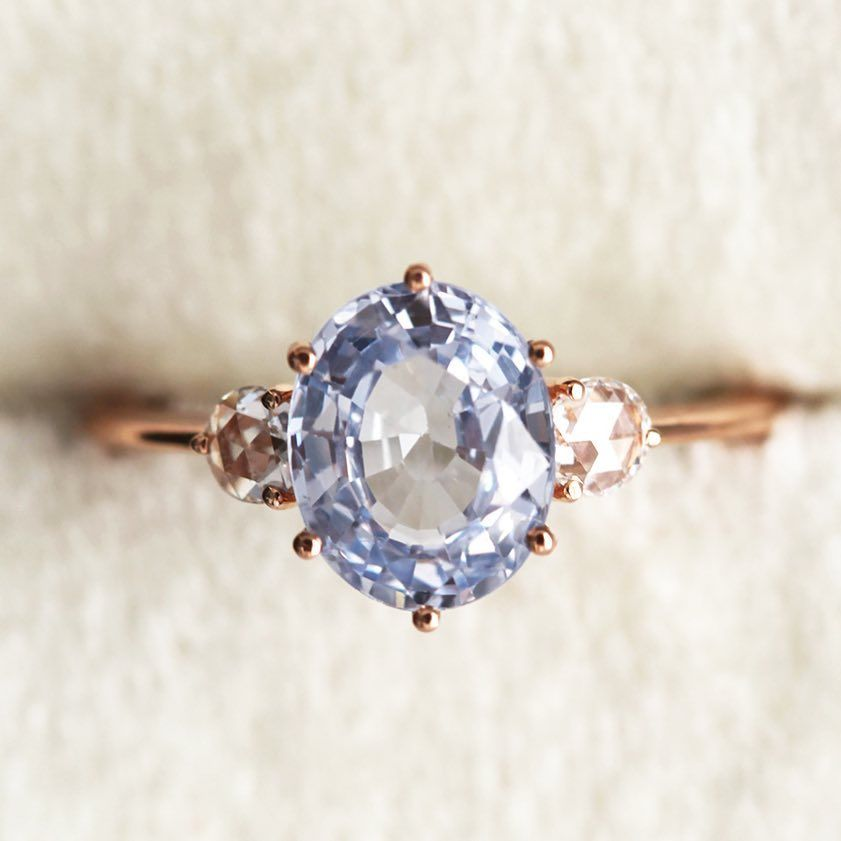 Capucinne On Instagram The Sky S The Limit 2 35ct Sky Blue Sapphire With Rose Sapphire Engagement Ring Blue Engagement Rings Sapphire Fine Gold Jewelry