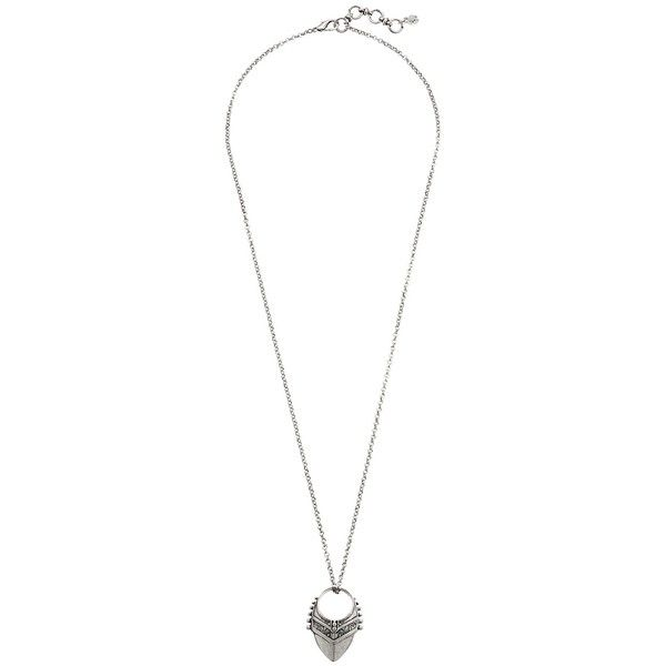 Lucky Brand Pyramid Pendant Necklace, Silver (€28) ❤ liked on Polyvore featuring jewelry, necklaces, silver, pendant jewelry, adjustable chain necklace, chain necklace, silver pendant and silver jewelry