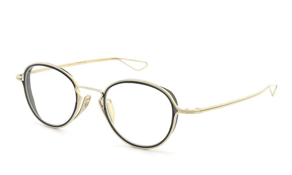 6de18c2b06a0 Dita Eyeglasses HALIOD DTX100-48-02 White Gold Black Iron Frame  DITA