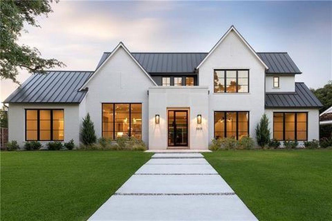 30 Cute Farmhouse Exterior Design Ideas That Inspire You Modern Farmhouse Exterior Modern House Exterior House Designs Exterior
