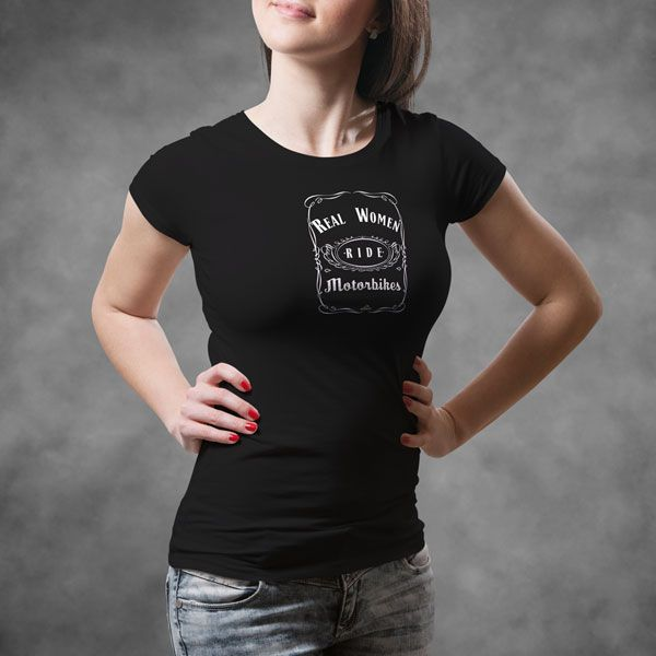 Real Women Ride Motorbikes T Shirt – Based on the famous Tennessee whiskey bot…
