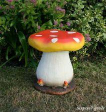 Toadstool Stool Ornament Garden Seat