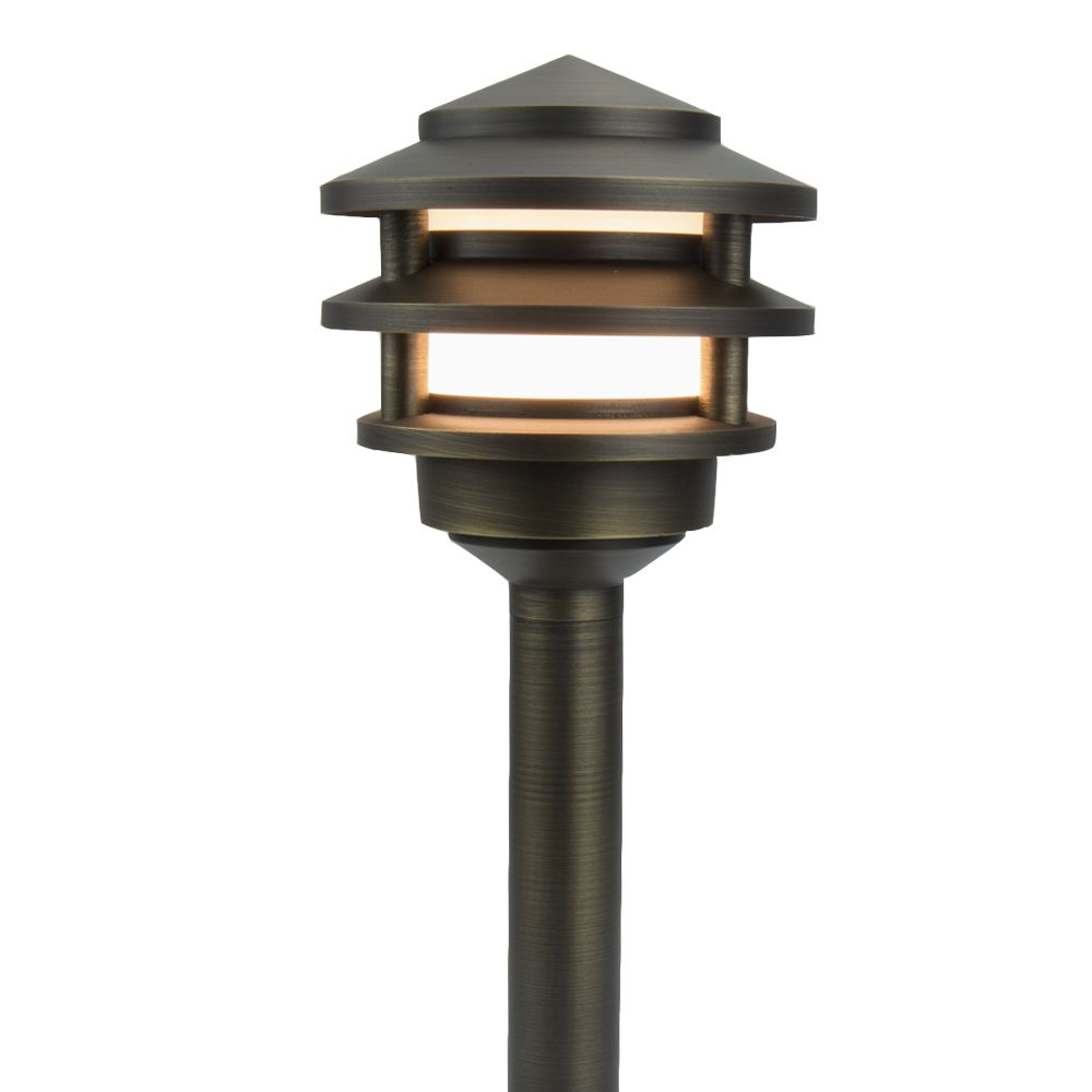 Premier Pagoda Brass Path Area Light Landscape Lighting Area Lighting Led Path Lights