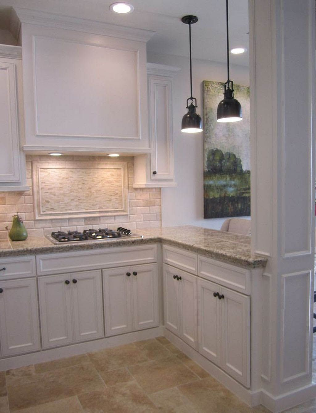 Rustic Kitchen Cabinets Antique White Kitchen Backsplash For White Cabinets Beige Kitchen