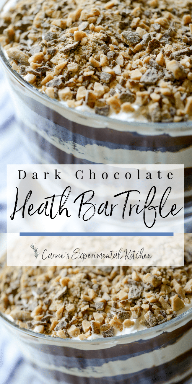 Dark Chocolate Heath Bar Trifle | Carrie's Experimental Kitchen