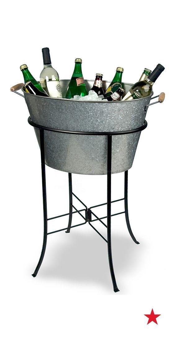 Artland Masonware Galvanized Tin Party Tub With Stand Reviews Serveware Dining Macy S Disenos De Unas Decoracion De Unas Cerveza Artesanal