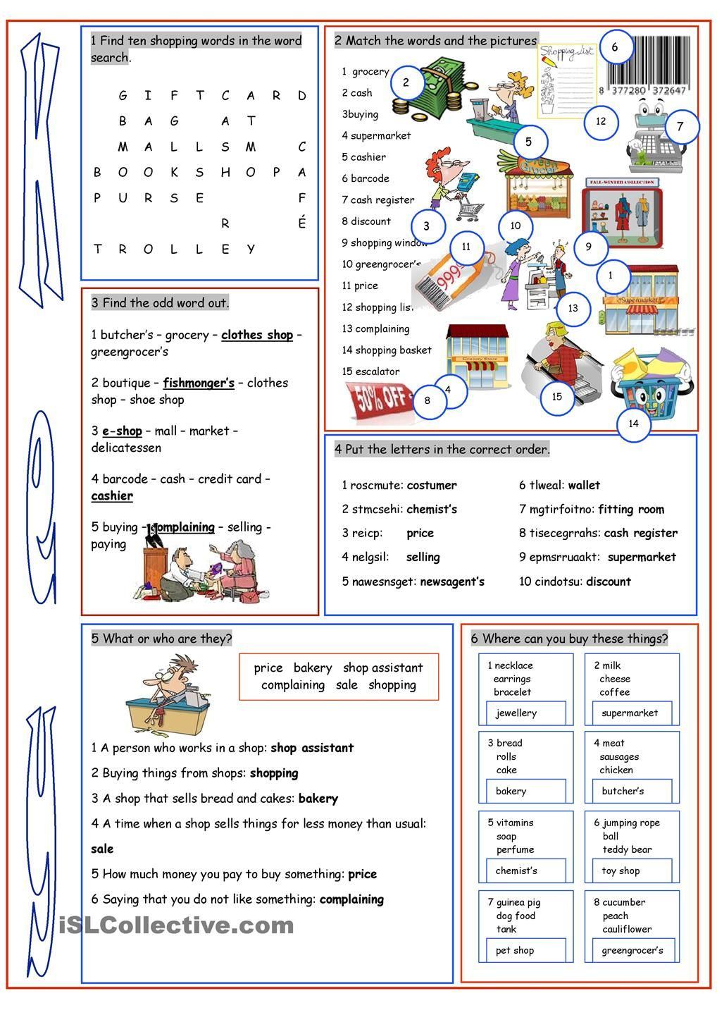 Solutions Worksheet Answers Word Shopping Vocabulary Exercises  Shopping  Pinterest  Vocabulary  Simplify Algebraic Fractions Worksheet Pdf with Whole Number Place Value Worksheets Excel Worksheet On Practisingreinforcing Shopping Vocabulary Math Printable Worksheets Grade 3 Excel