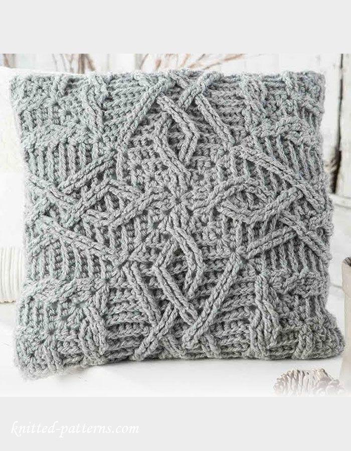 Pillow Crochet Pattern Free Pillows Pinterest Crochet Pillows