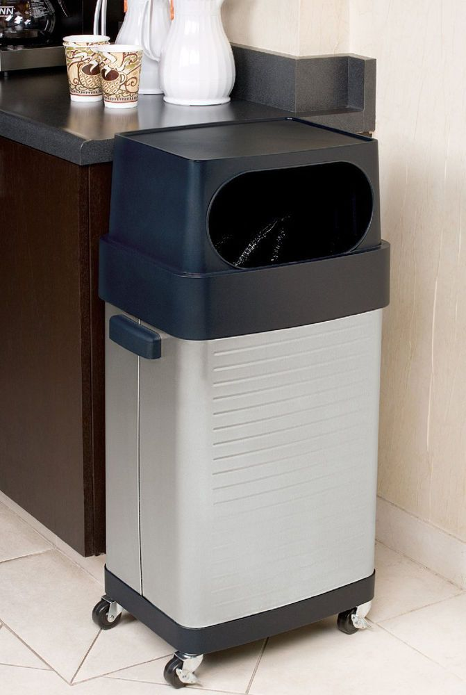 17 Gallon Trash Can Stainless Steel Garbage Bin Waste Home Kitchen