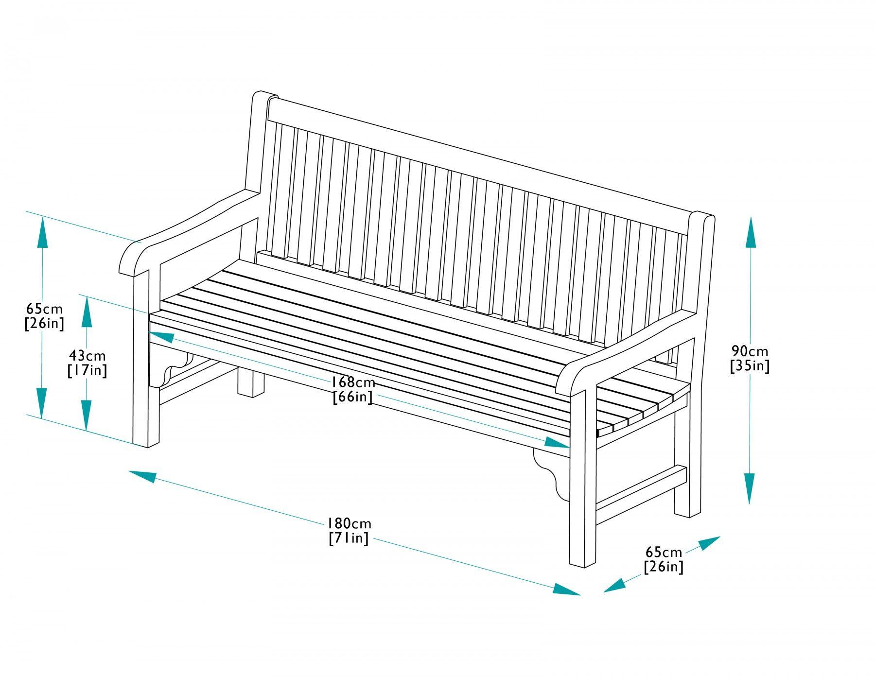 Image result for seat garden dimensions cm desing pinterest