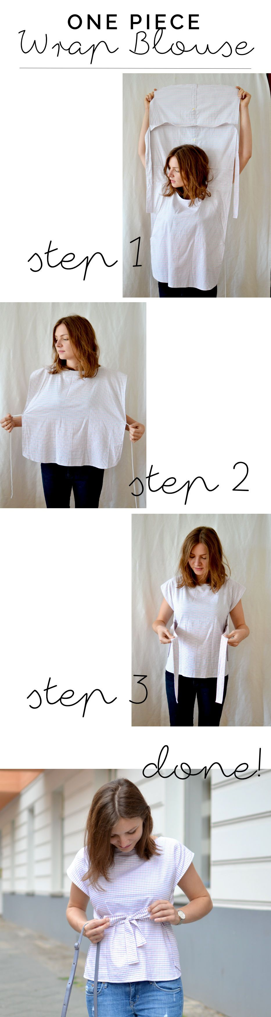 Wickelbluse DIY aus altem Hemd | at/least | DIY Dreams | Pinterest ...