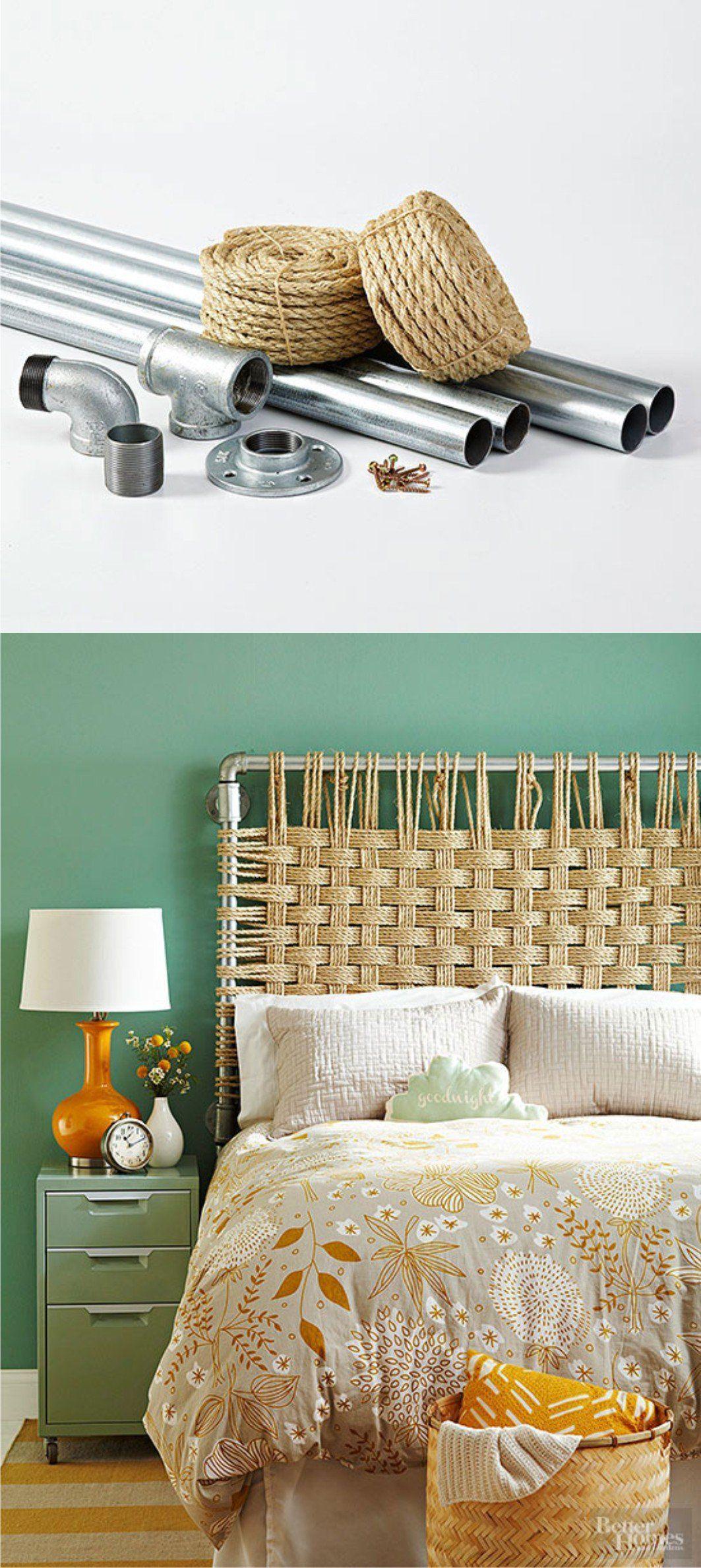 Cabecero DIY con tubos y cuerda | Pinterest | Cabecero, Cuerdas y Cuerda