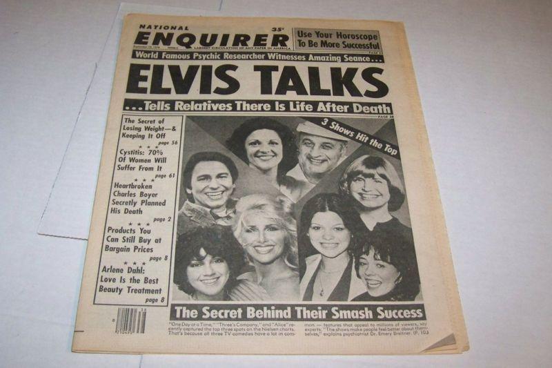 9/19/1978 NATIONAL ENQUIRER magazine THREES COMPANY