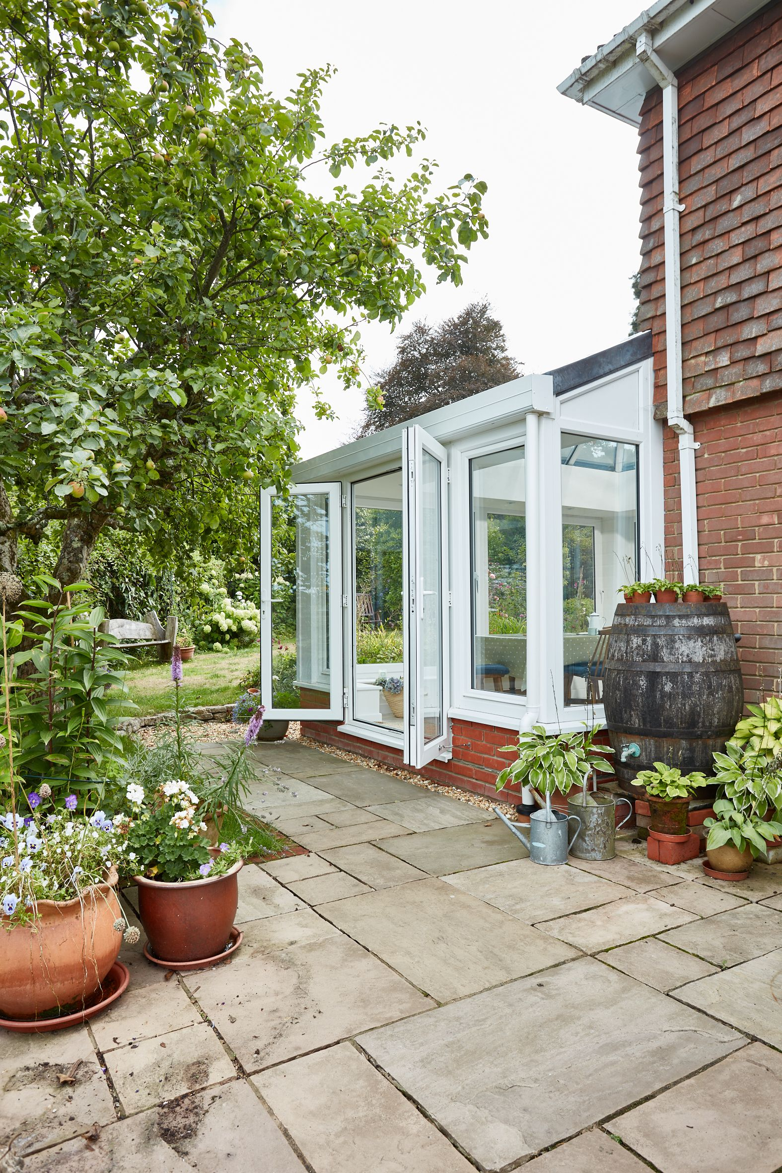 Conservatory In White Upvc