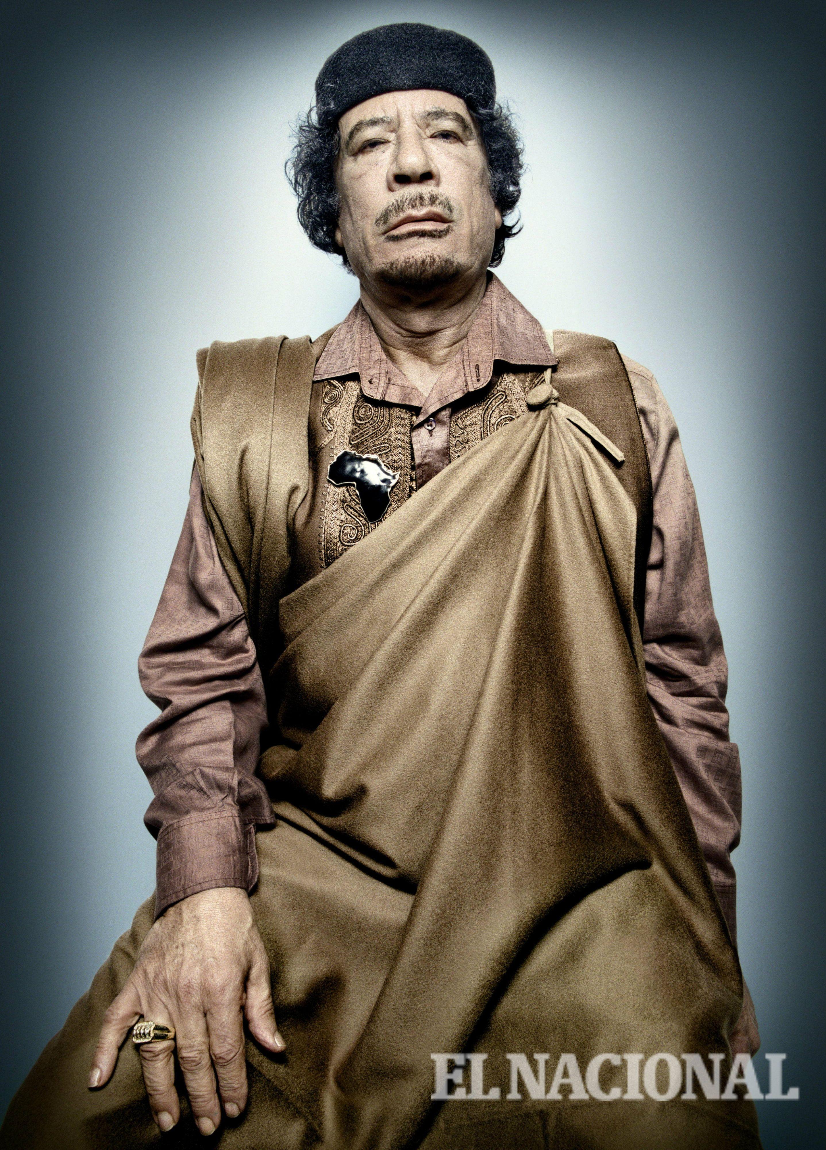 Dictador Muamar el Gadafi. Libia