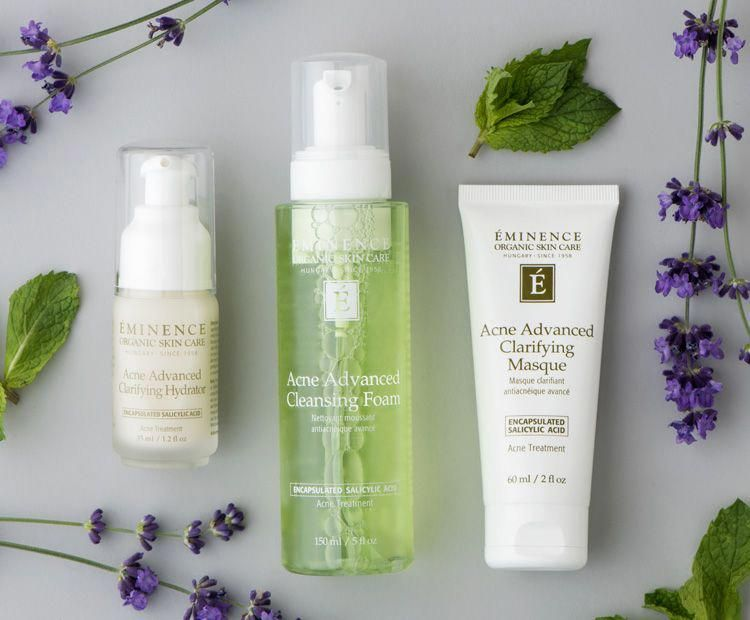 Eminence Organic S New Acne Collection Tackles Breakouts Without The Harsh Side Effects Eminence Organic Skin Care Skin Care Benefits Organic Skin Care