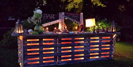 Pallet bar with lights bar pinterest pallets vintage bar pallet bar with lights aloadofball Image collections