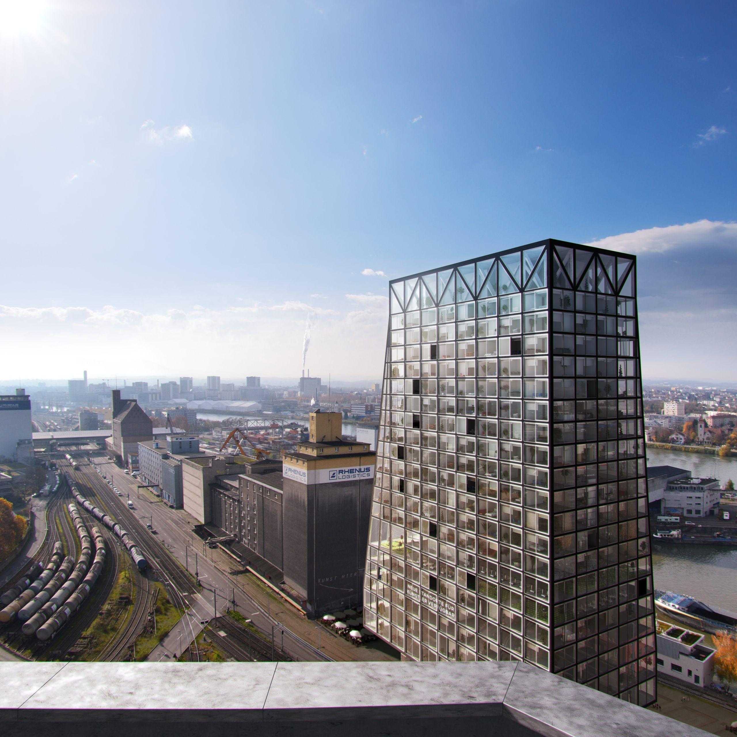Hochhaus Basel, Switzerland Client Zdeněk Liška 80m tall