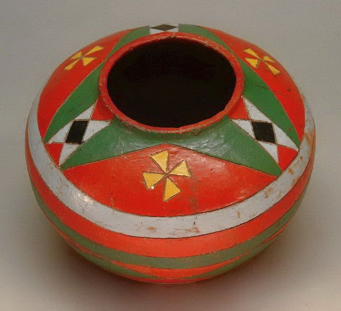 Sotho Decorated Clay Vessel South Africa Low Fired