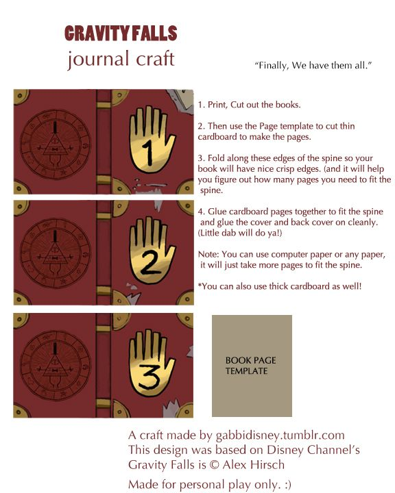Book Cover Craft Template : Gravity falls book on pinterest journal