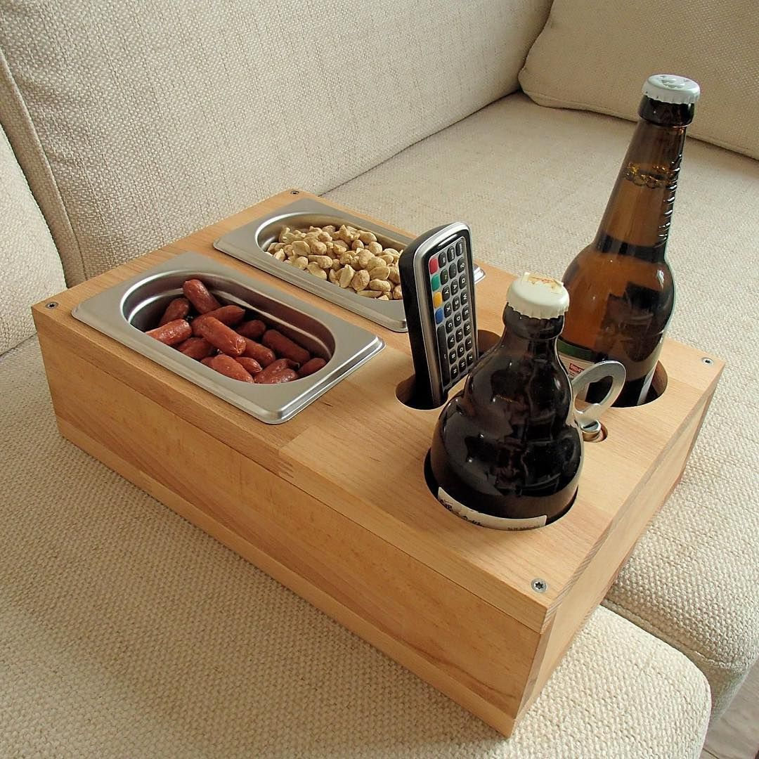 Product On Instagram Sofa Tray Sofa Butler Cup Holder Beer Crate By Golfballliebhaber P Roduct Product Design Productdesi Beer Crate Wood Diy Diy