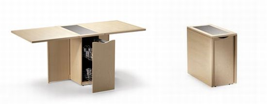 Space saver Skovby s fold out table tops blend beauty and utility