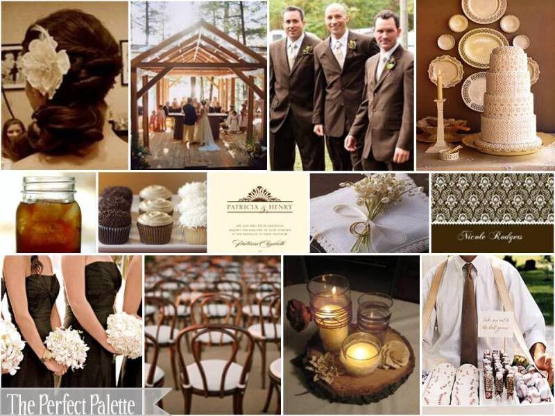 Chocolate Cream Wedding Inspiration Board