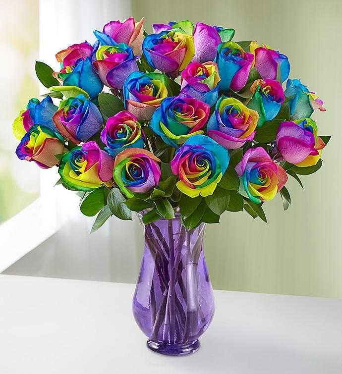Las Rosas de la Princesa #rainbowroses