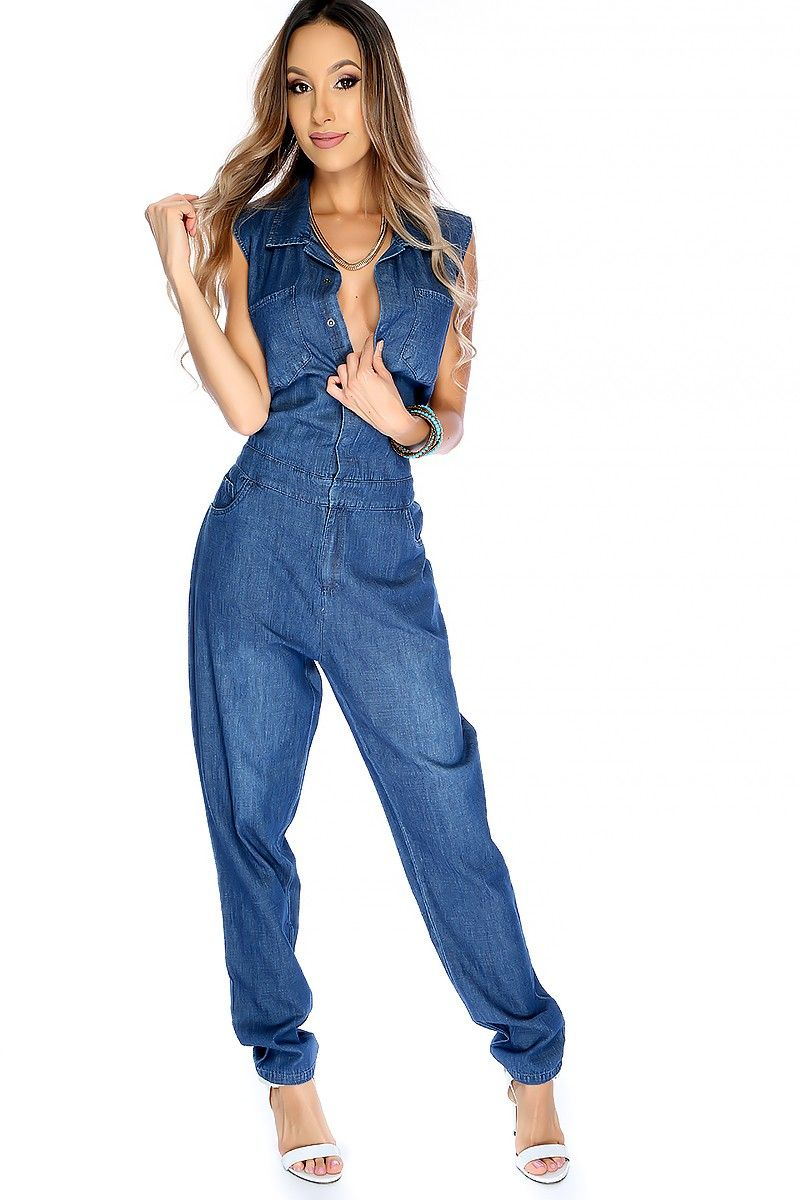 04d052dc5b7 This jumpsuit outfit is the perfect showstopping look for a casual day!  Featuring  sleeveless