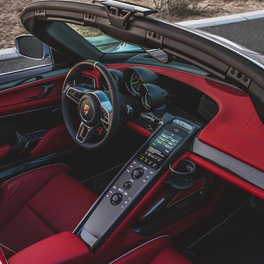 Porsche 918 Spyder Interior! Would You Drive This ? Follow  @arabmoneyofficial For More!