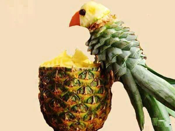 Fun with Pineapple.  Fruit never looked so good