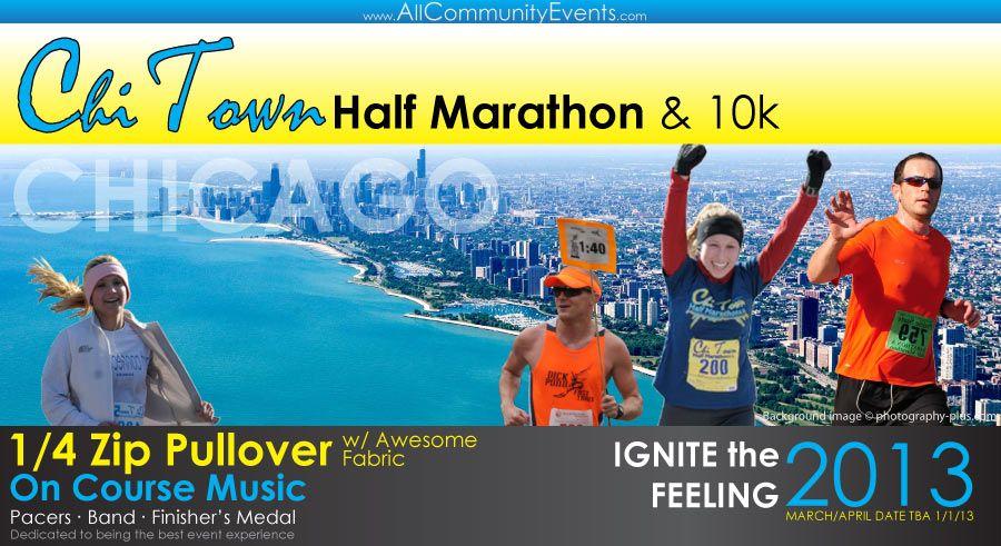 $46 chi town 10K and half marathon