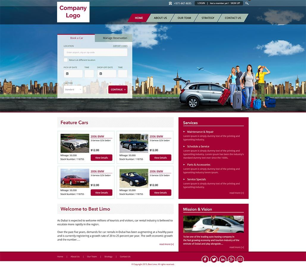 Car Rental Website Template Our Design Experts Have Done Lots Of Studies And Then Carved Car Rental Website Portfolio Web Design Car Rental