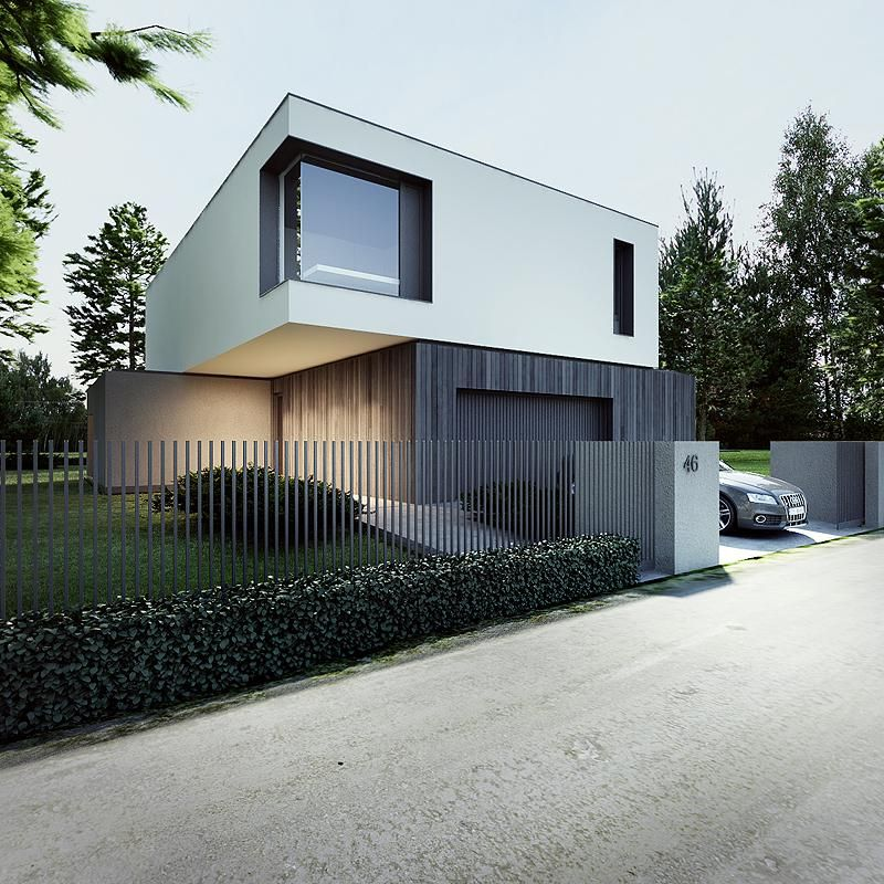 Modern Entrance Design With Decorative Aluminium Fence For: Smooth, Front Doors And Metals