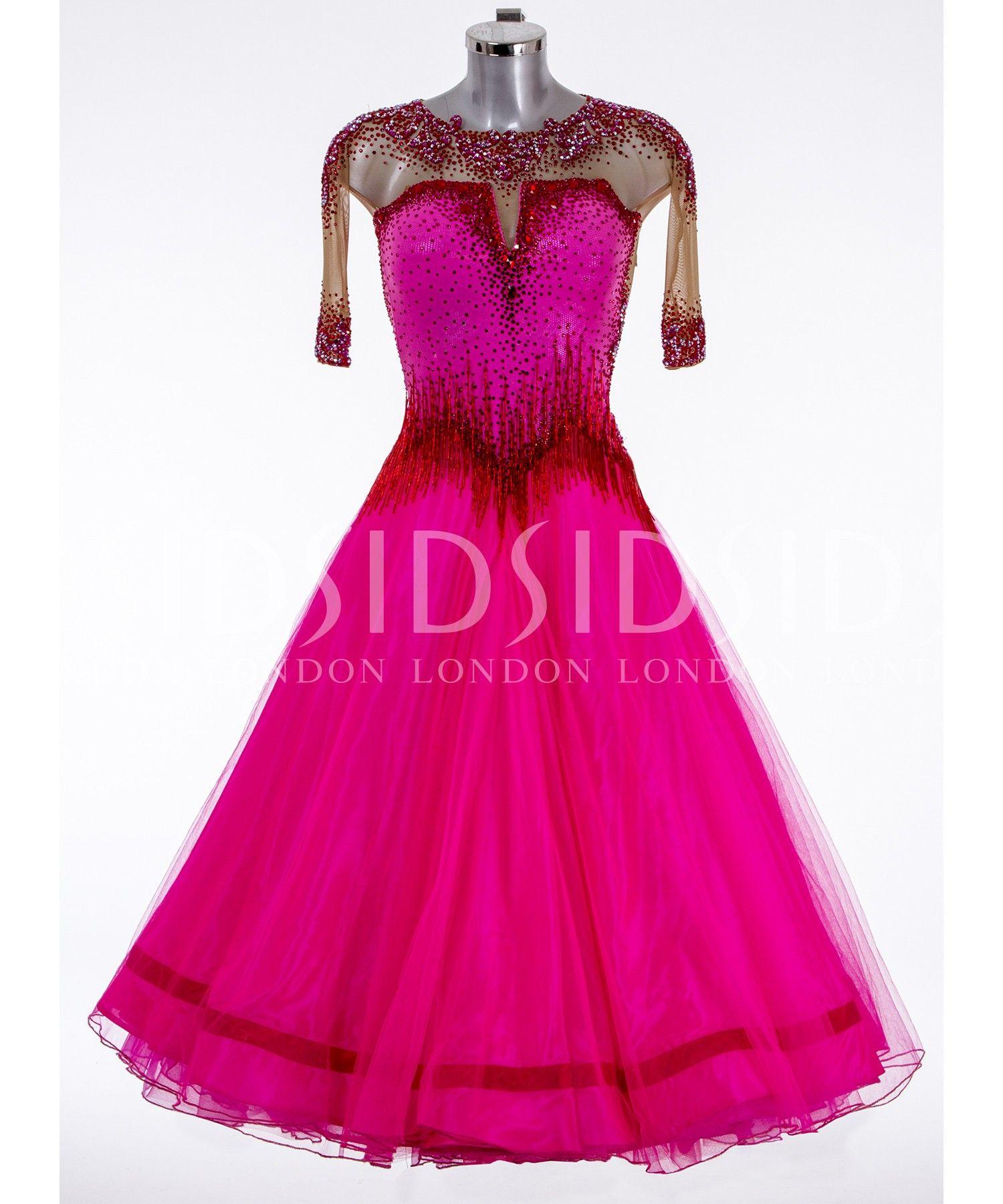 391828 Cerise Junior Ballroom Dress | Dance dresses for ...